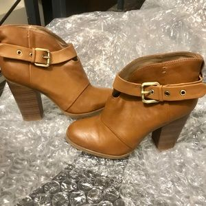 JustFab Faux Leather Booties